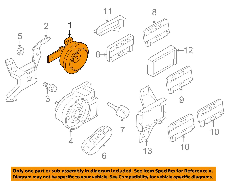 Purchase PORSCHE OEM 11-15 Cayenne Alarm System-Alarm Horn