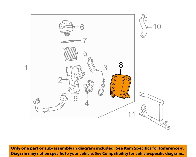 land rover oem lr l l engine oil cooler lr land rover oem 08 10 lr2 3 2l l6 engine oil cooler lr001426