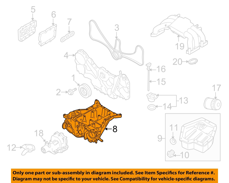 Sell Subaru Oem 10 14 Outback Engine Oil Pan 11120aa080 Motorcycle 2 Diagram