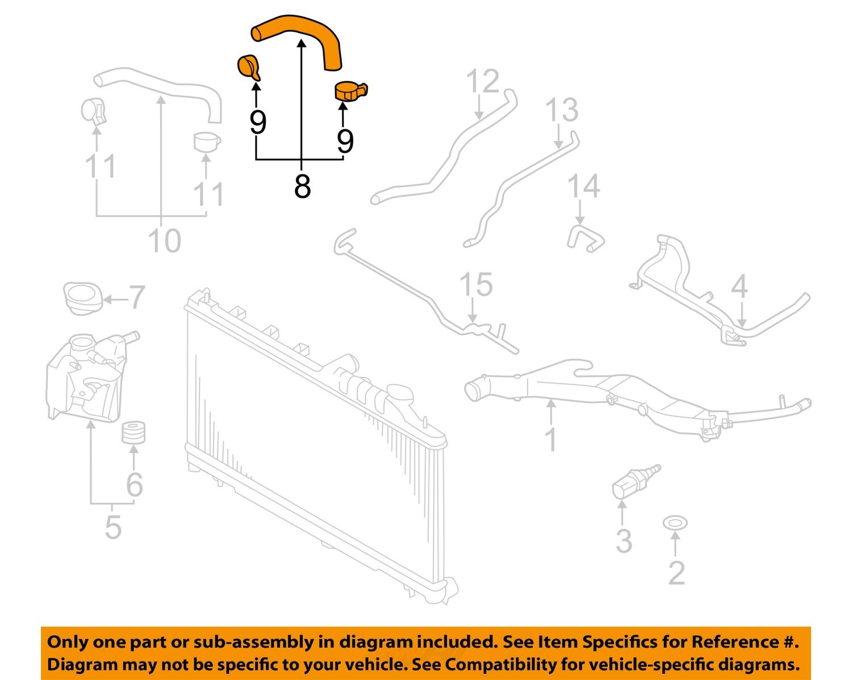 SUBARU OEM 09-13 Forester 2.5L-H4 Cooling-Coolant Hose 14472AA050 ...