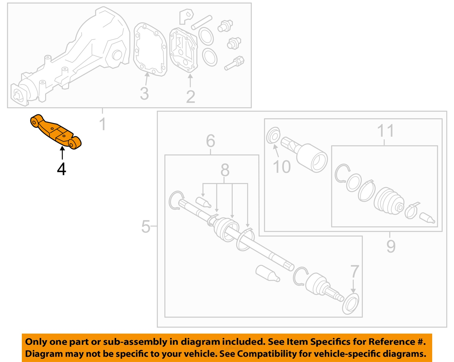 Sell Subaru Oem 09 15 Forester Axle Differential Rear Mount Support Diagram 41310ag023