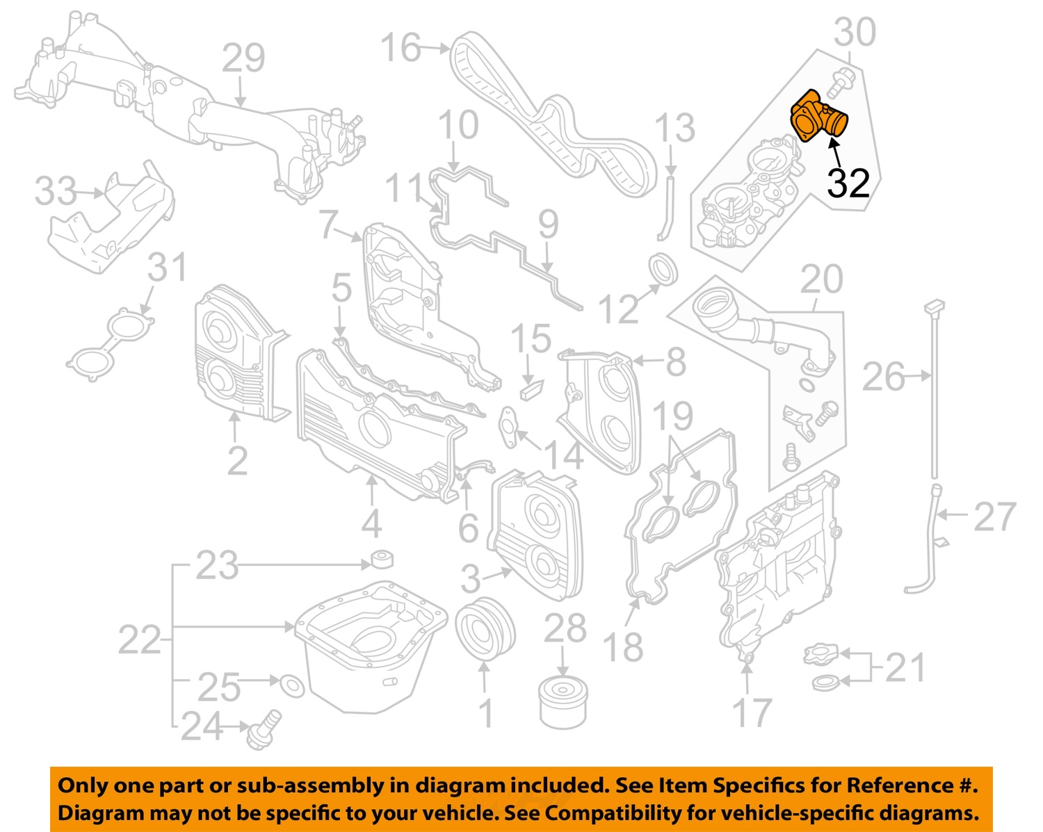 Subaru Oem 04 08 Forester Engine Parts Motor Right