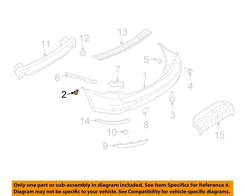 subaru impreza parts diagram subaru oem 08-15 impreza rear bumper-bumper cover clip ...