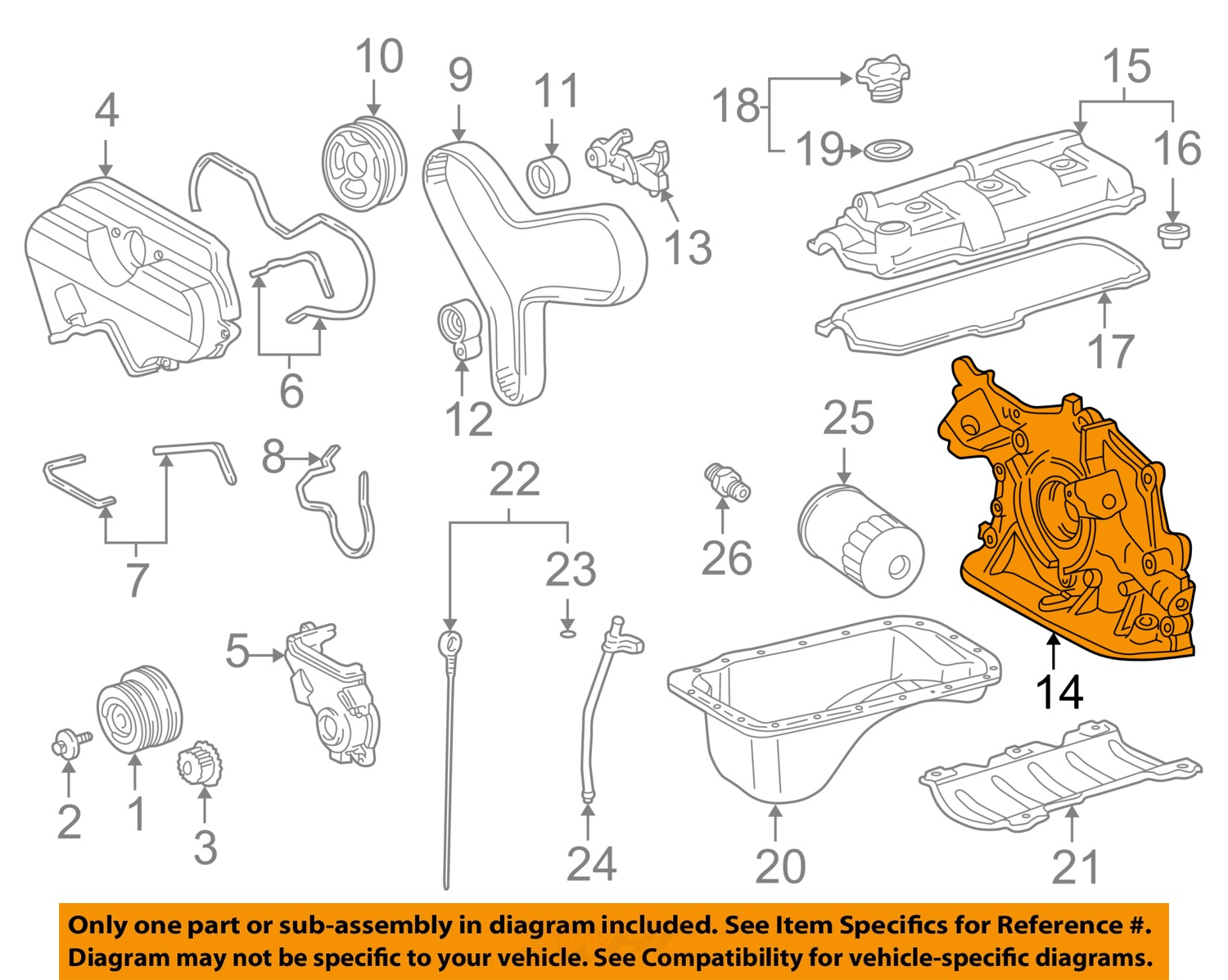 toyota oem 00 02 tundra 3 4l v6 engine oil pump 1510162050 image is loading toyota oem 00 02 tundra 3 4l v6