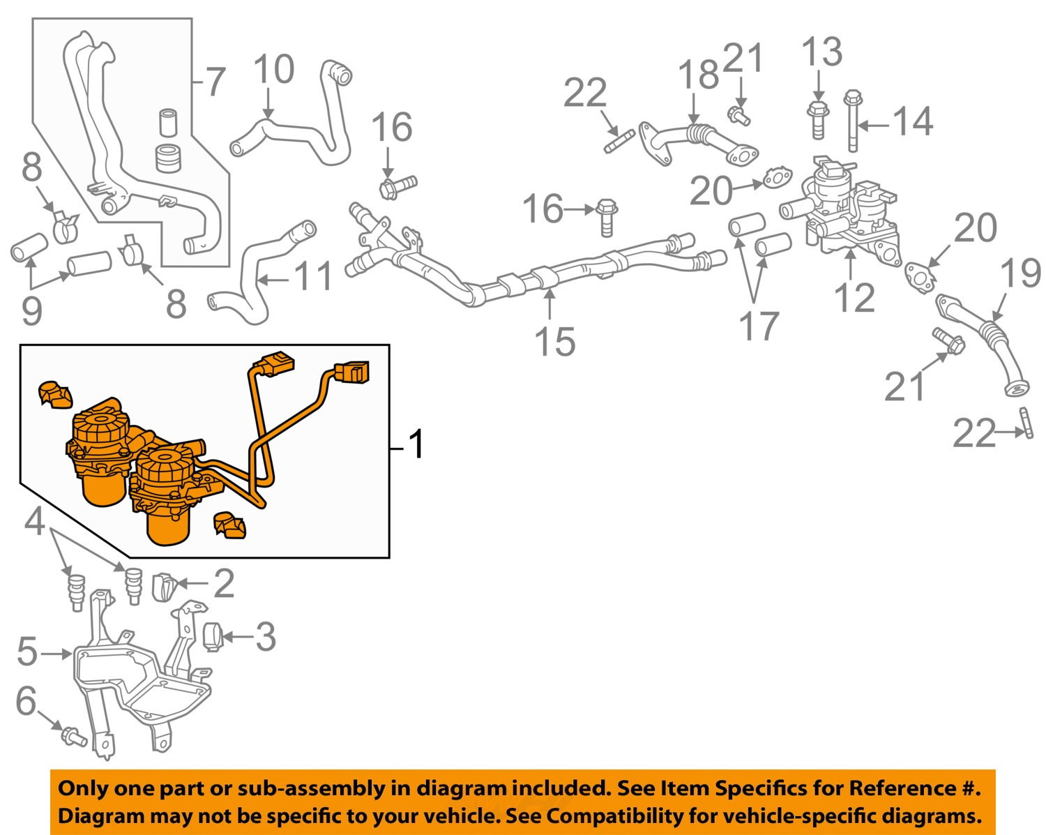 Tundra Smog Pump Diagram Ask Answer Wiring Ford Toyota Oem Air For Sequoia Land Cruiser 17610 0s010 Ebay Removal Mercedes Rebuild