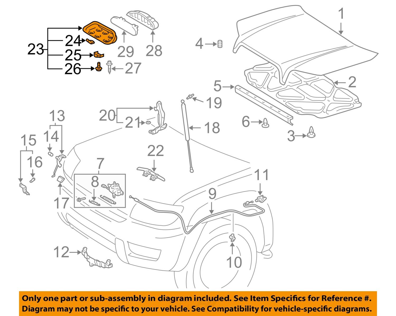 For Toyota Genuine Hood Scoop Front 7618135050C0