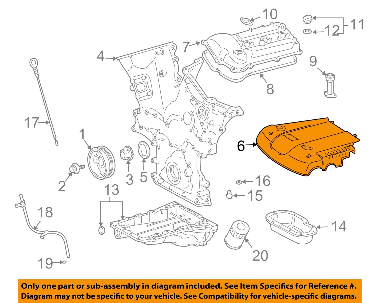 toyota oem 03 09 4runner 4 0l v6 engine cover 1125931011 toyota oem 03 09 4runner 4 0l v6 engine cover 1125931011