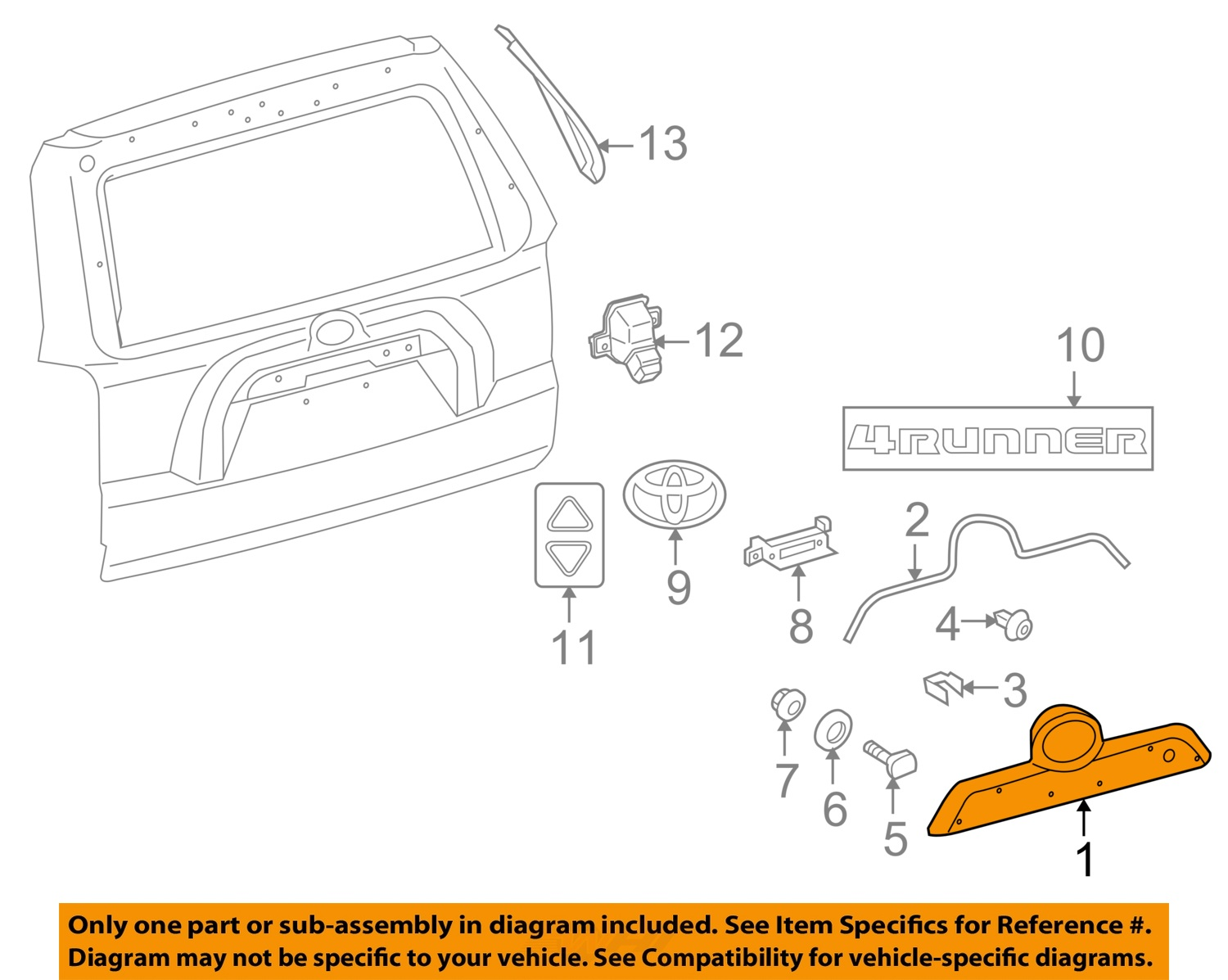 2012 Toyota 4runner Wiring Diagram Library 1996 4 Runner Oem 10 16 Liftgate Tailgate Hatch Handle