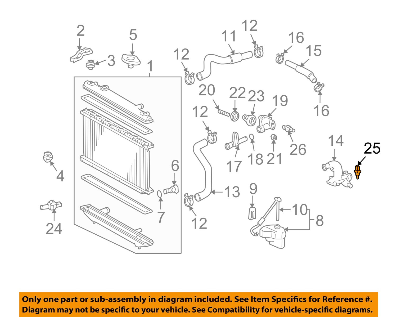 toyota oem coolant temperature sensor 8942235010 ebay. Black Bedroom Furniture Sets. Home Design Ideas