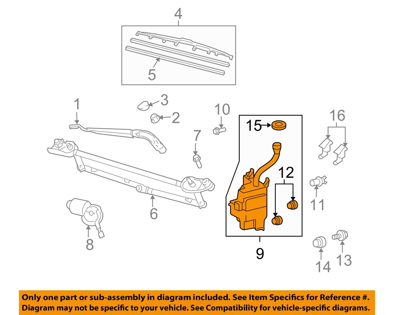 toyota oem highlander wiper washer-windshield fluid ... toyota 3 0 engine diagram air valve toyota 3 0 engine diagram windshield washer resevor