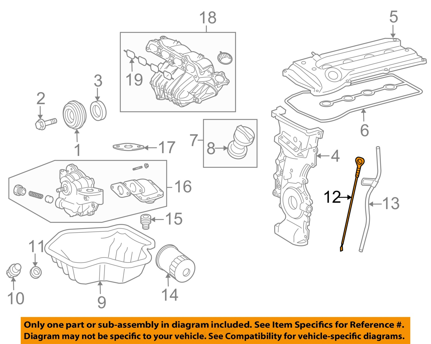 engine fluids diagram toyota oem engine-oil fluid dipstick 1530128031 | ebay