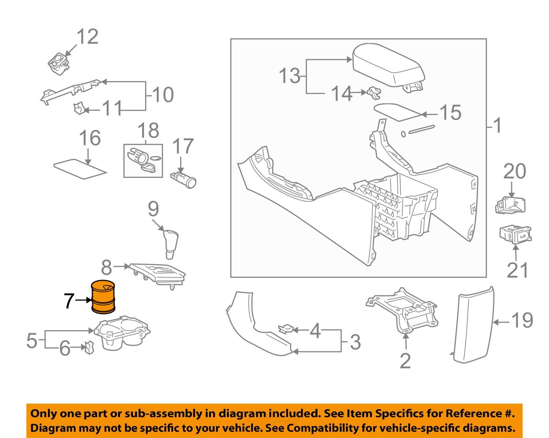 toyota oem 2012 rav4 console insert 556180r011 ebay. Black Bedroom Furniture Sets. Home Design Ideas