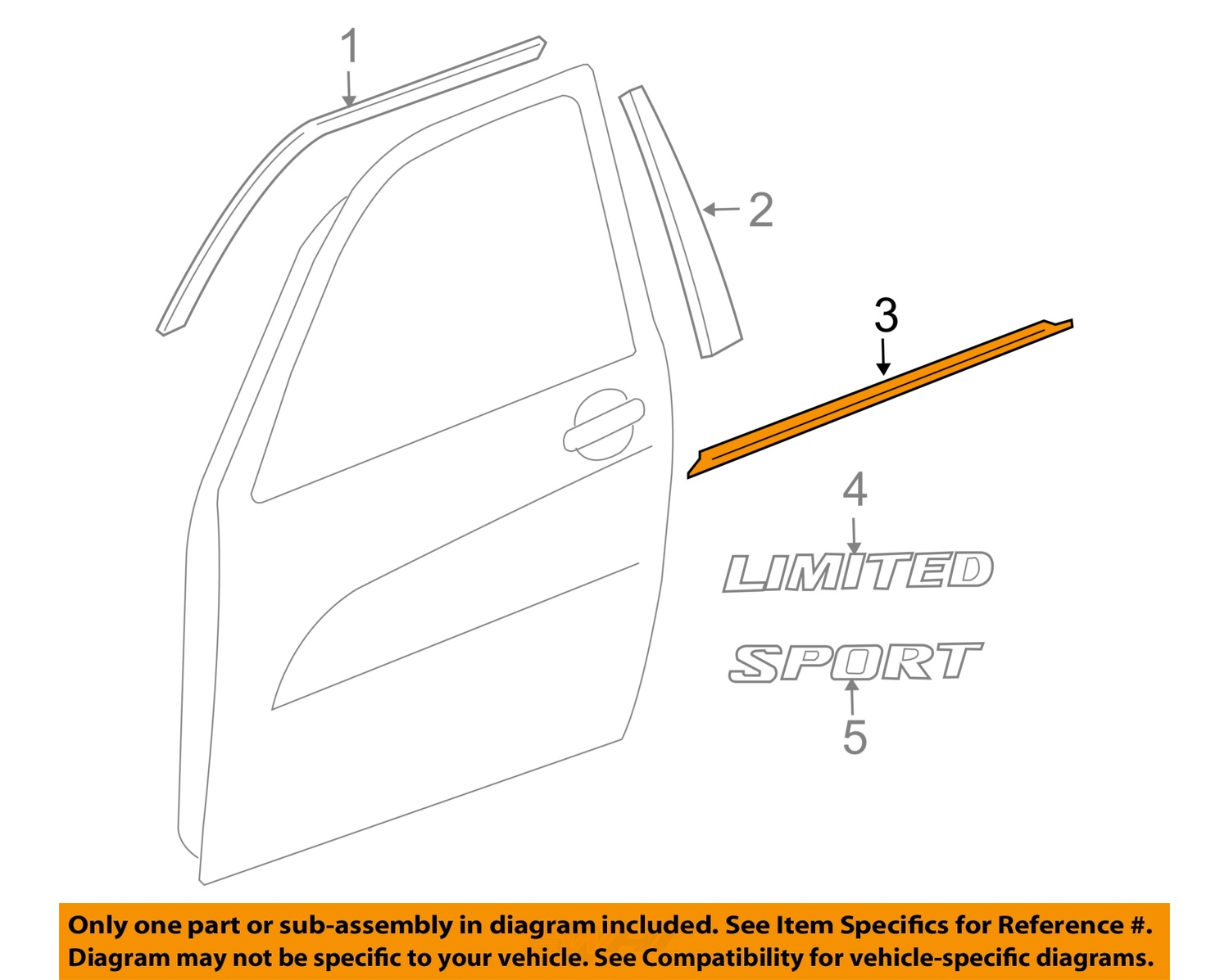 toyota oem rav4 door window sweep belt molding. Black Bedroom Furniture Sets. Home Design Ideas