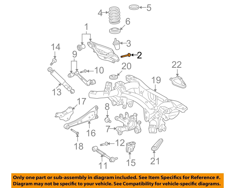 Rav4 Strut Diagram Schematics Data Wiring Diagrams Engine Toyota Oem 06 15 Rear Suspension Lower Control Arm Bolt 90119a0329 Ebay 2005 Struts