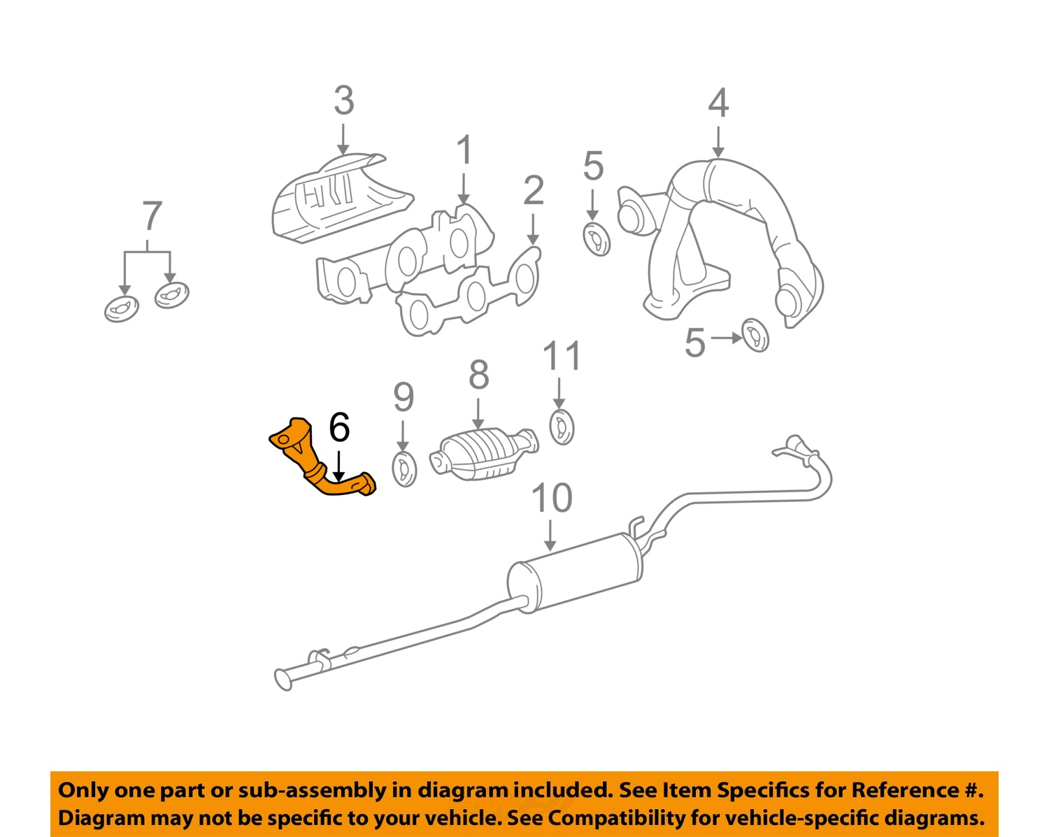 toyota oem tacoma l v exhaust system front pipe toyota oem 95 00 tacoma 3 4l v6 exhaust system front pipe 1741007070