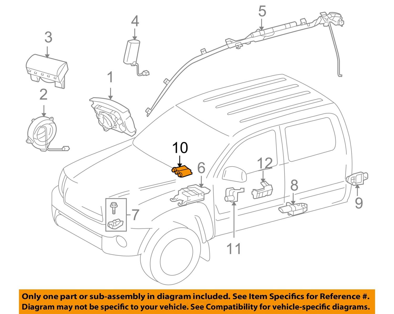 toyota oem tacoma airbag air bag passenger seat occupancy Air Pressure Switch Diagram