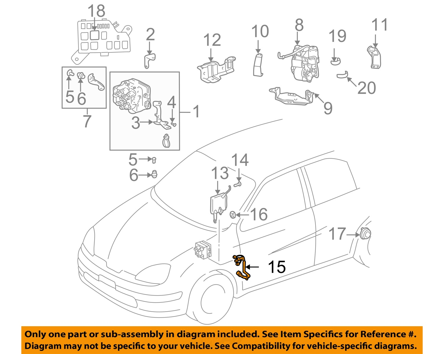 buy toyota oem 01 03 prius abs harness 8963947030 motorcycle in rh 2040  parts com Prius Drivetrain Diagram 2008 Toyota Prius Parts Diagram