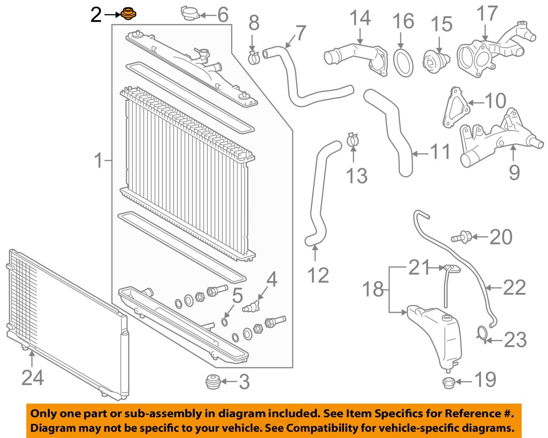 toyota oem radiator assembly upper insulator 16523ad010 ebay. Black Bedroom Furniture Sets. Home Design Ideas