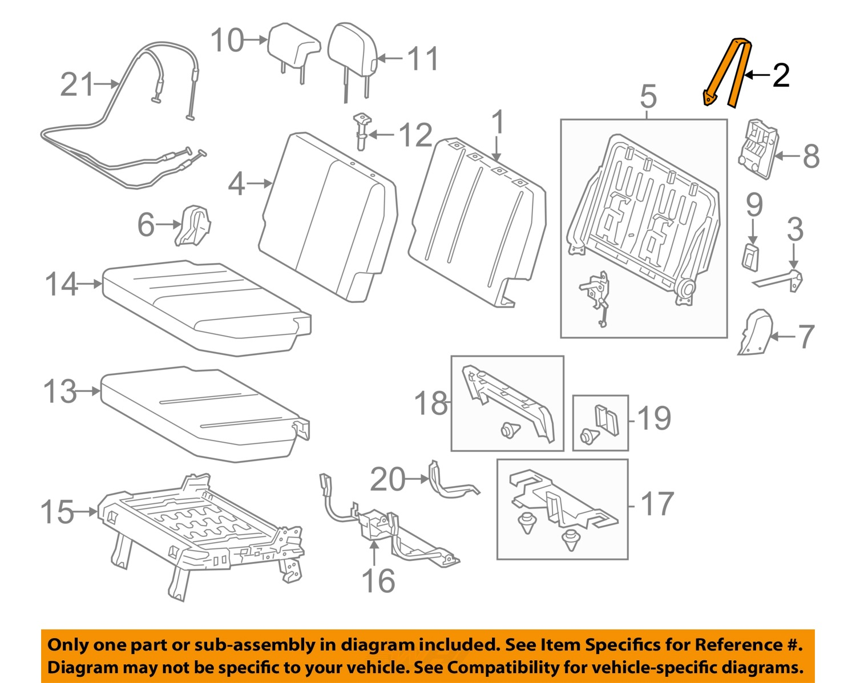 toyota oem 2011 sienna third row seats-release handle left 7250708040c0 toyota sienna seat diagram