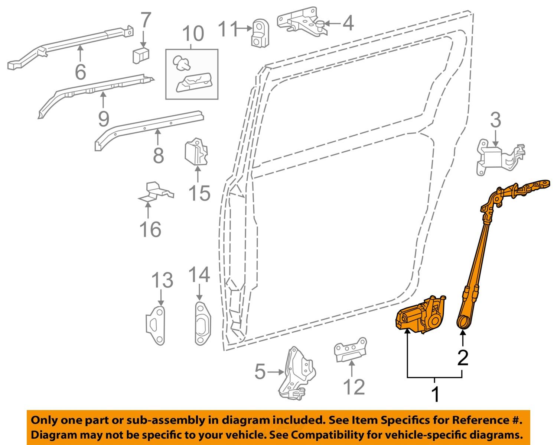 Toyota Oem 11 13 Sienna Side Sliding Door Motor 8500608013 Ebay