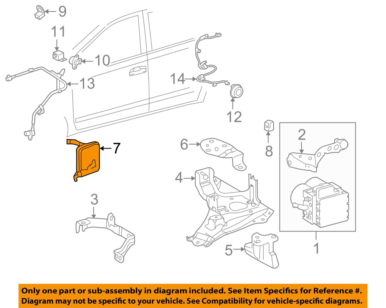 toyota oem 2004 prius abs anti lock brake system control. Black Bedroom Furniture Sets. Home Design Ideas