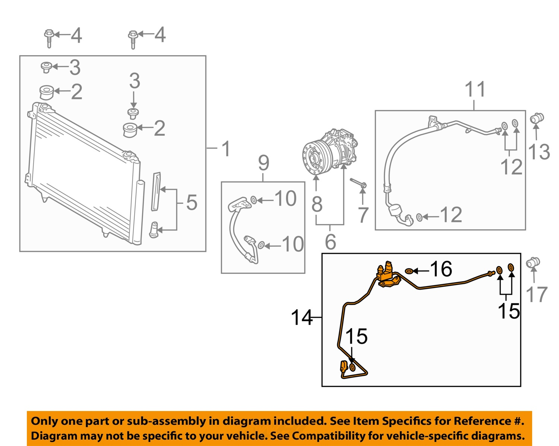 2005 scion xb radio wiring diagram scion toyota oem xb a/c ac condenser, compressor-liquid ...