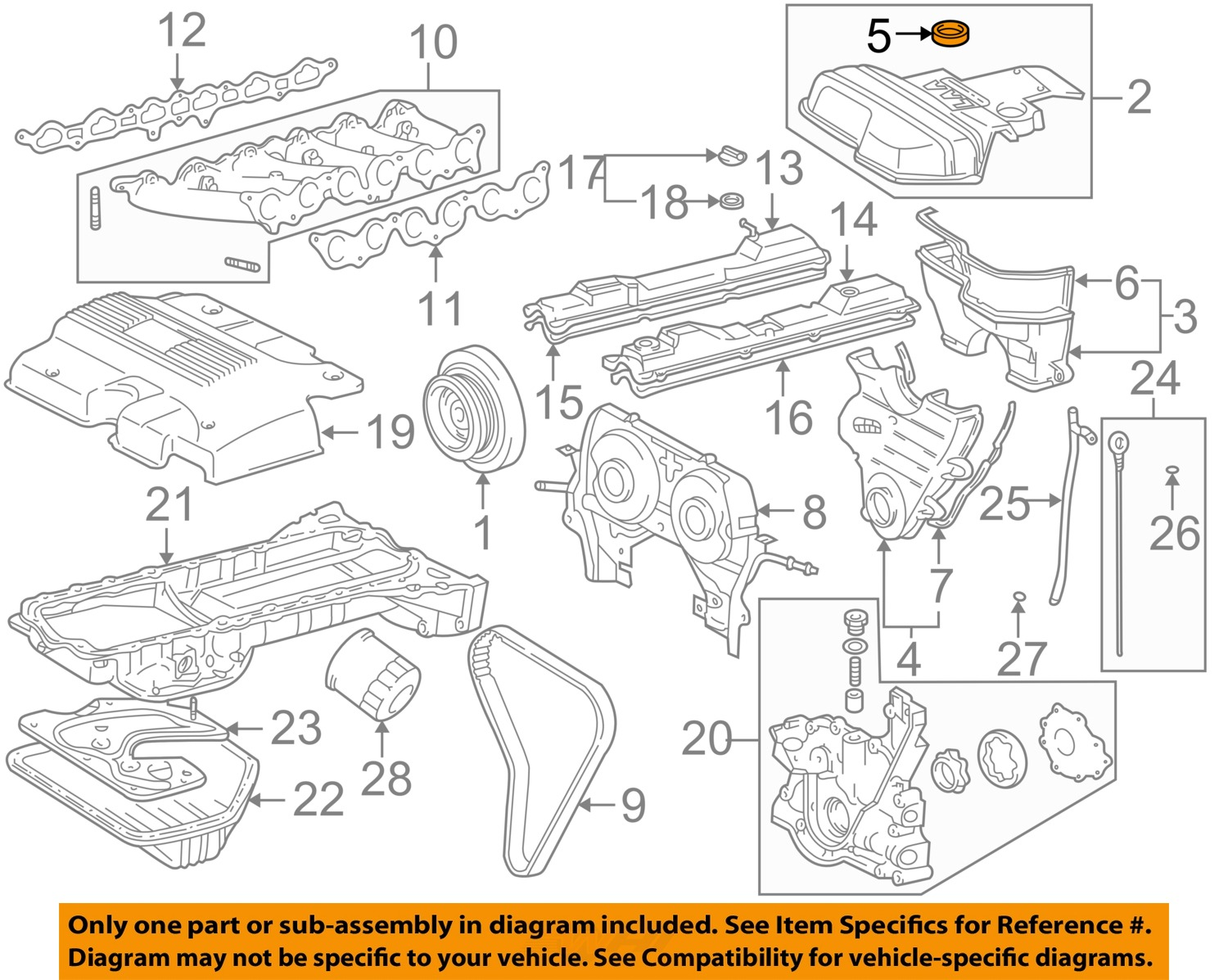 Lexus TOYOTA OEM 0102 IS300 30LL6 EngineOuter Timing Cover – L6 Engine Diagram