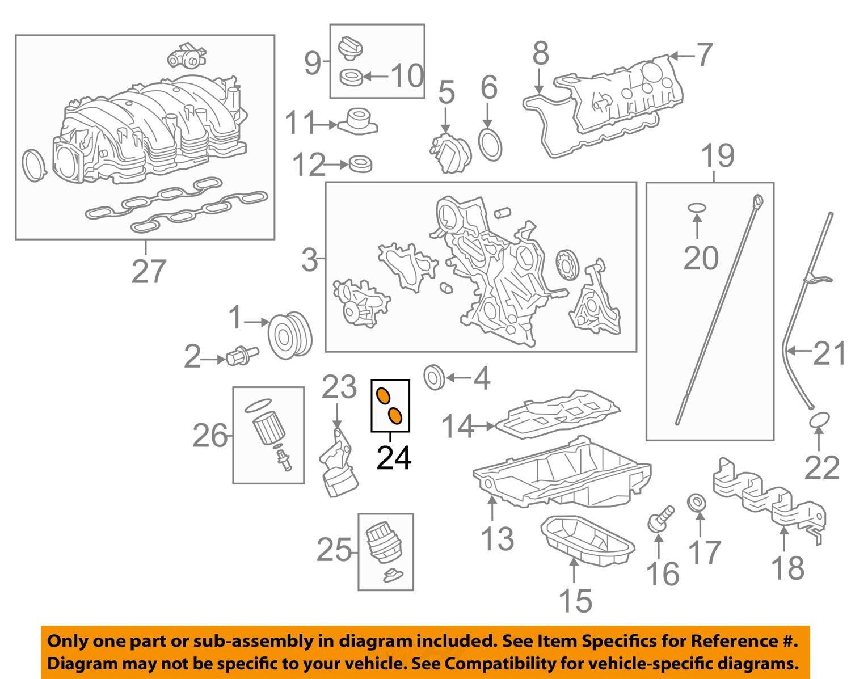 lexus toyota oem 13 16 ls460 engine oil filter housing o ring seal lexus toyota oem 13 16 ls460 engine oil filter housing o ring seal 9672224030