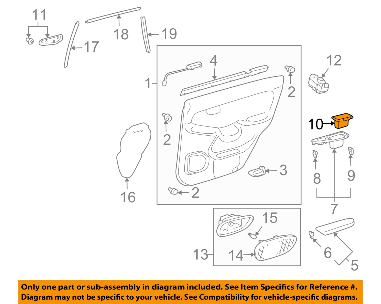 Door Parts Catalog : Lexus gx rear door parts catalog auto