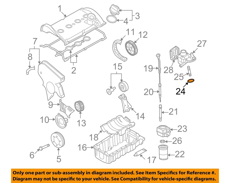 vw volkswagen oem 99 06 jetta engine parts oil cooler seal. Black Bedroom Furniture Sets. Home Design Ideas