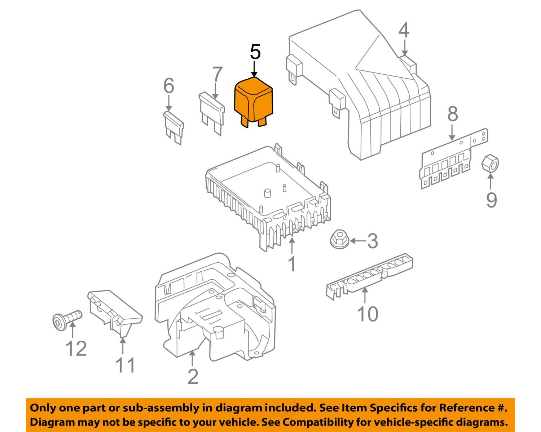 vw volkswagen oem 09 16 touareg 3 0l v6 fuse relay relay. Black Bedroom Furniture Sets. Home Design Ideas