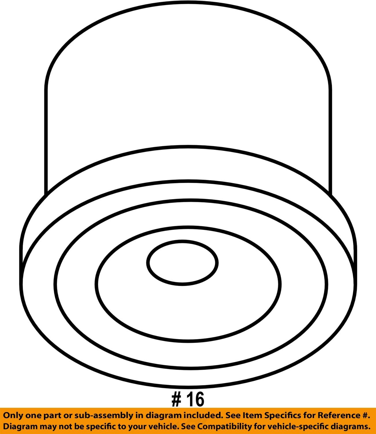 VW VOLKSWAGEN OEM 0910 Routan EngineOil Filter 7B0115561C – Routan Engine Diagram