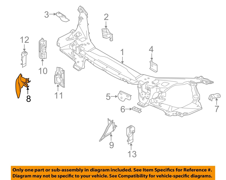 Volvo Oem 1416 S60 Radiator Core Supportupper Guide 31353045