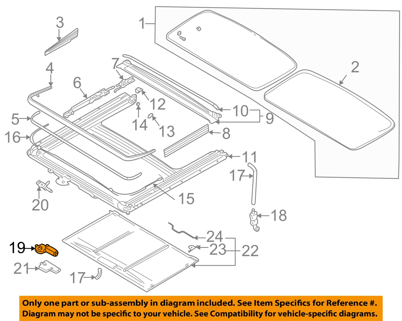 volvo oem 01 09 s60 sunroof moon roof motor 30716707 ebay. Black Bedroom Furniture Sets. Home Design Ideas