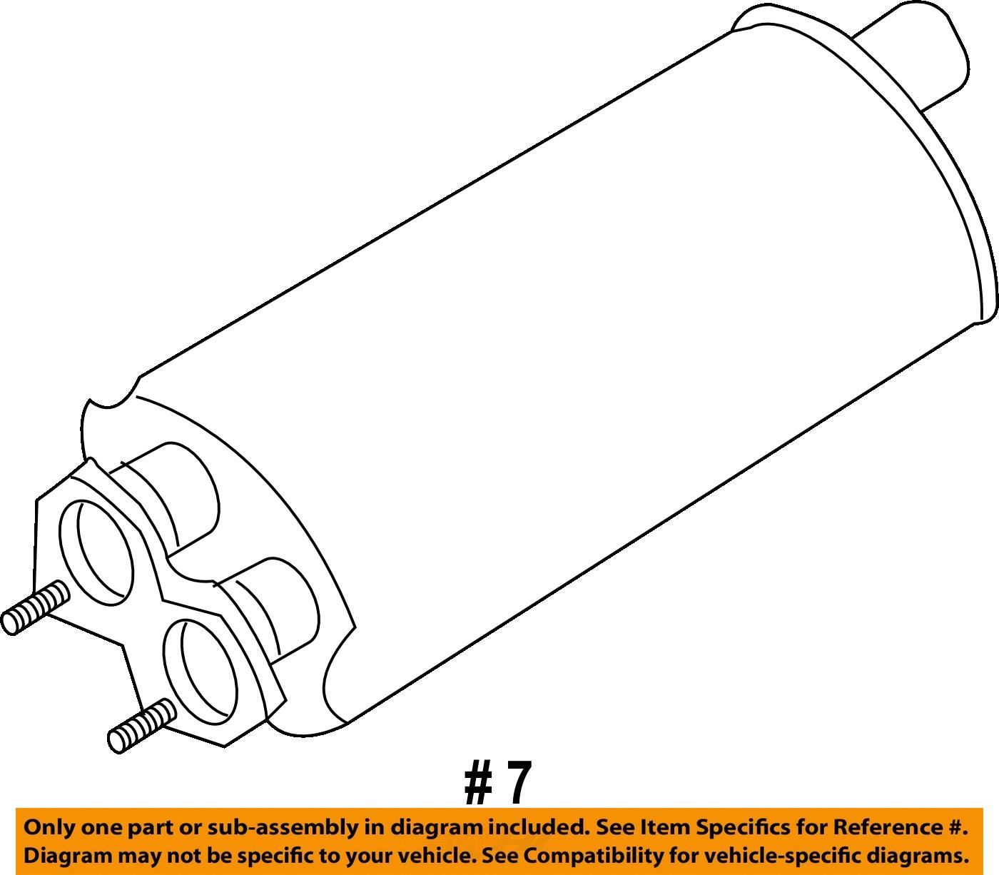 2007 Volvo Xc90 Exhaust Diagram Wiring Diagrams Engine Brand New Oem Front System Muffler 2014 2004 Oxygen Sensor Location