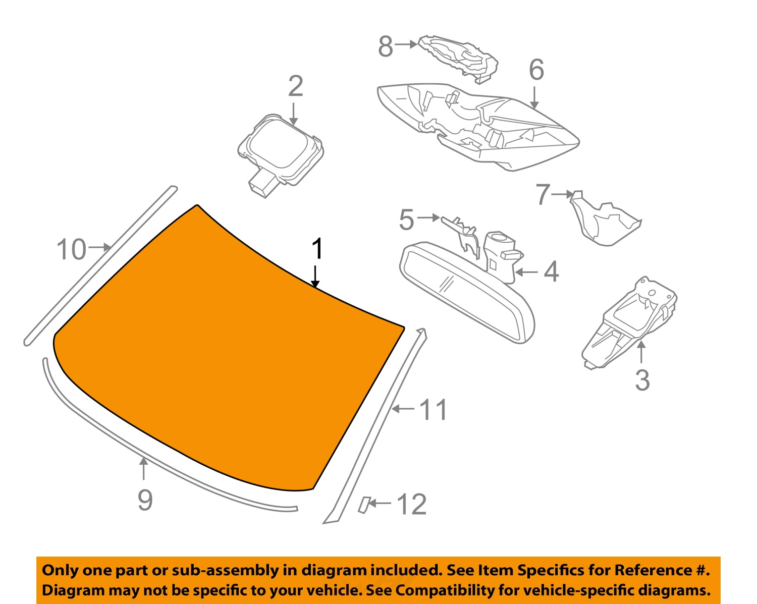 Find Volvo Oem 12 13 Xc60 Windshield Glass 31402265 Motorcycle In Engine Diagram