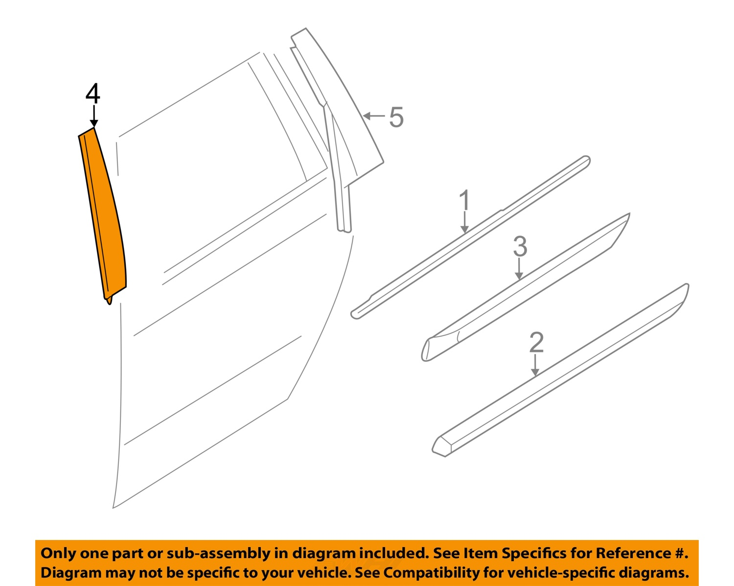 Volvo oem 10 16 xc60 exterior rear applique window trim for Parts of an exterior window