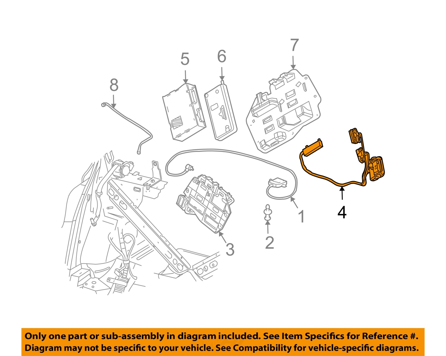 buick gm oem 00 05 park avenue gps navigation system wiring buick gm oem 00 05 park avenue gps navigation system wiring harness 12451190