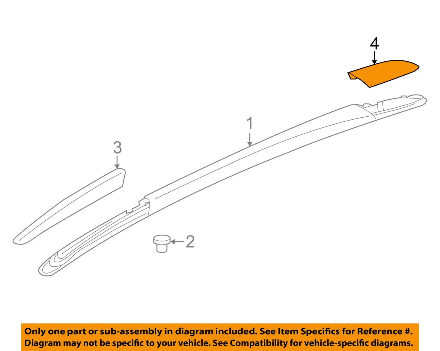 Buick Gm Oem Enclave Roof Rack Rail Luggage Carrier Rear