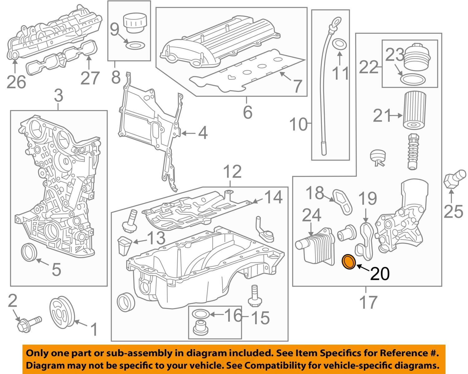 Gm Engine Parts Diagram Basic Car Chevy Pickup Gmc Diagrams Oem Cooler Assembly Gasket Image Is Loading