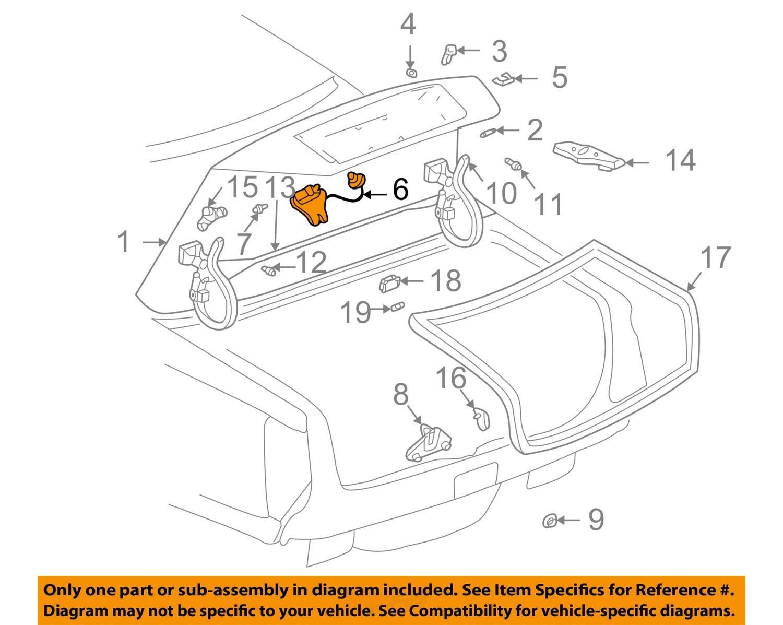 2000 cadillac deville trunk latch wiring diagram 2000 cadillac gm oem