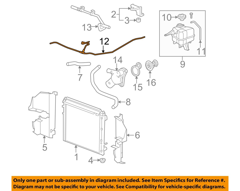 04 Cadillac Srx Engine Diagram Example Electrical Wiring 07 Fuse Box Gm Oem 08 4 6l V8 Radiator Inlet Hose 2010 2007