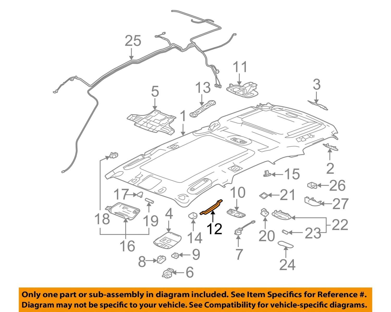 cadillac gm oem 06 08 srx interior roof inside grip grab. Black Bedroom Furniture Sets. Home Design Ideas