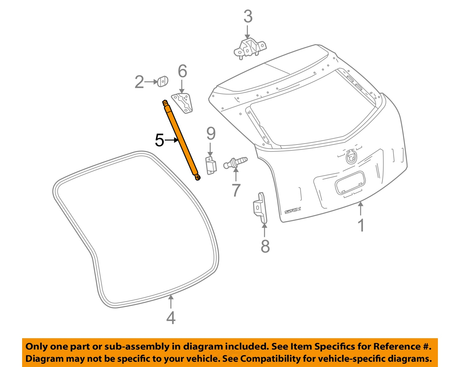 Cadillac GM OEM SRX Liftgate Tail Tailgate Trunk-Release Latch ...