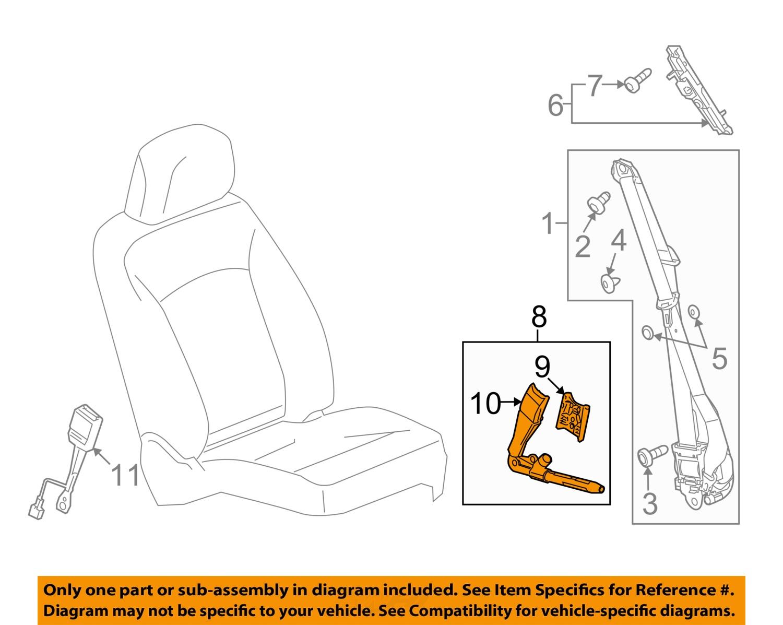 Gm Oem Front Seat Belt