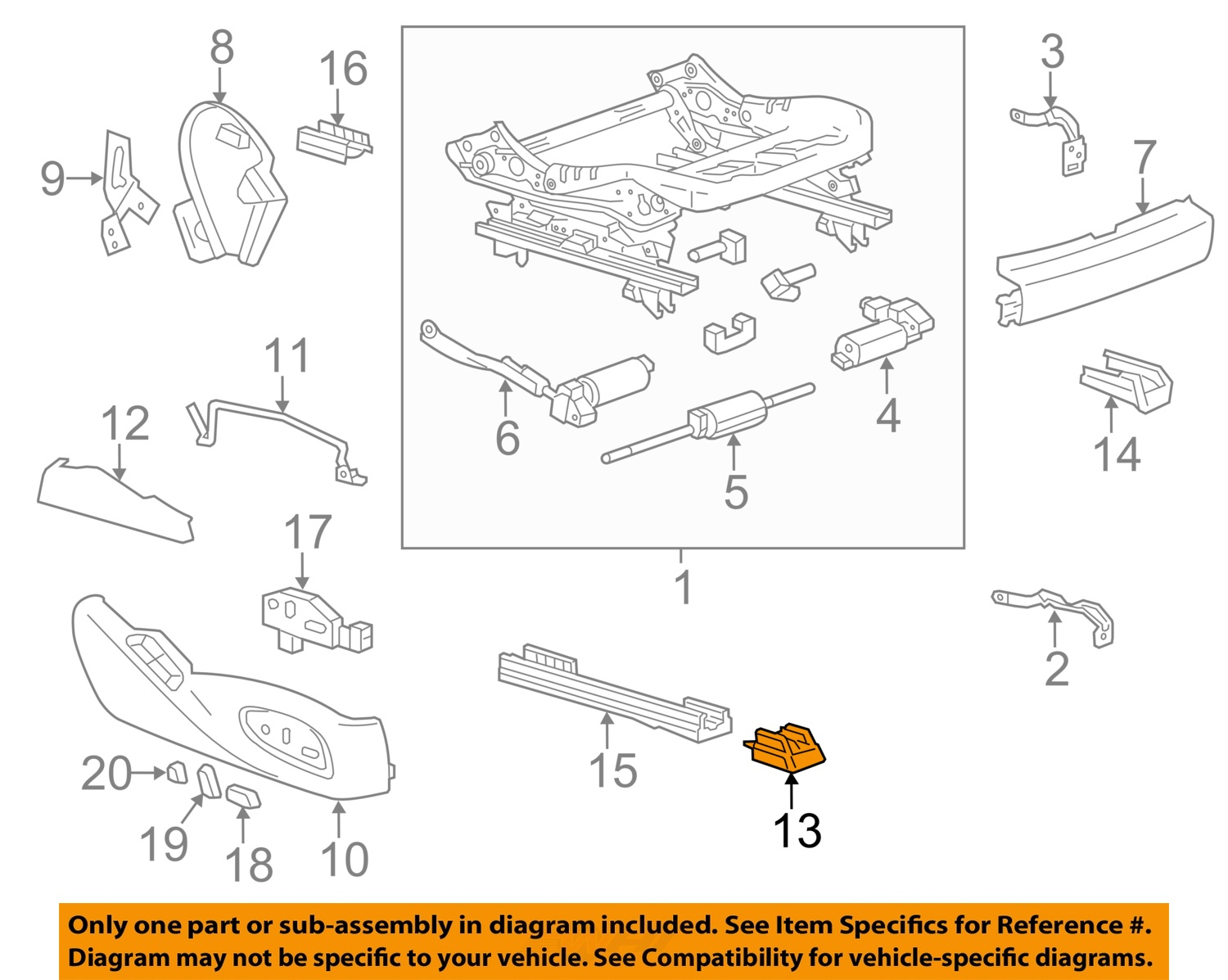 Gm Oem Seat Track Cover Right 23123131 Ebay Door Diagram Image Is Loading