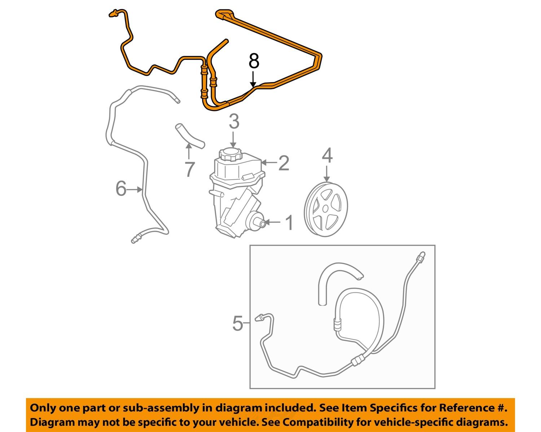 chevrolet gm oem 06 11 impala pump hose power steering. Black Bedroom Furniture Sets. Home Design Ideas