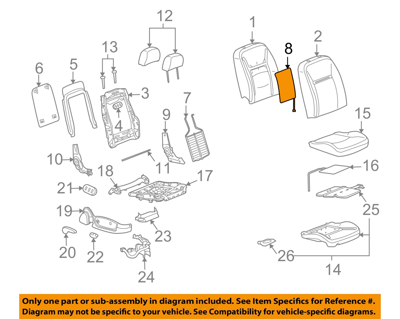 chevrolet gm oem impala seat heater element  chevrolet gm oem 09 13 impala seat heater element 19124636