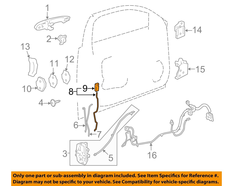 Chevrolet gm oem 06 08 impala front door lock rod right for 08 chevy impala door lock actuator