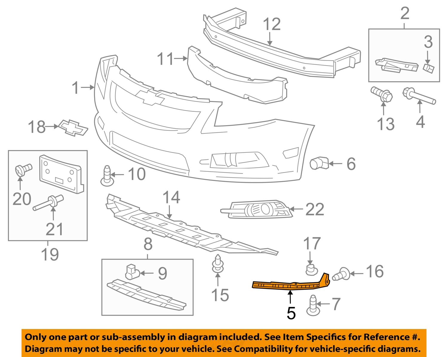 Chevrolet Gm Oem Cruze Front Bumper Grille Grill